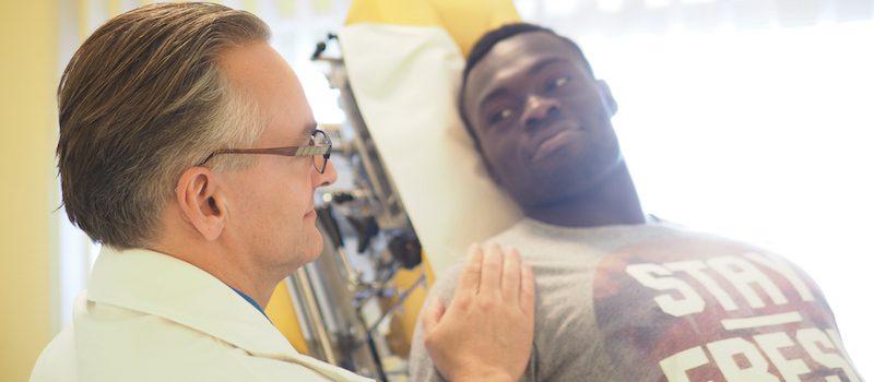 Patientenbetreuung und Anamnese in der CMK Mannheim